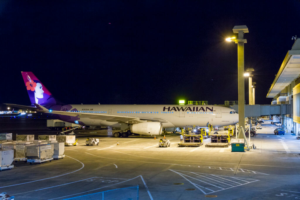 Hawaiian Air HNL-LAS Red-Eye