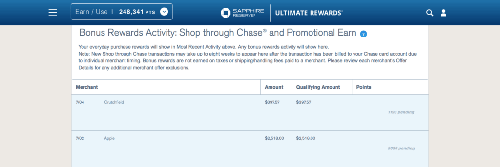 Non-Chase Cards Work with Shop through Chase