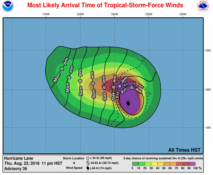 Hurricane Lanes Impacts Hawaii