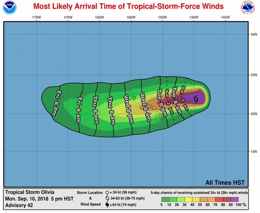 Tropical Storm Olivia Threatens Hawaii