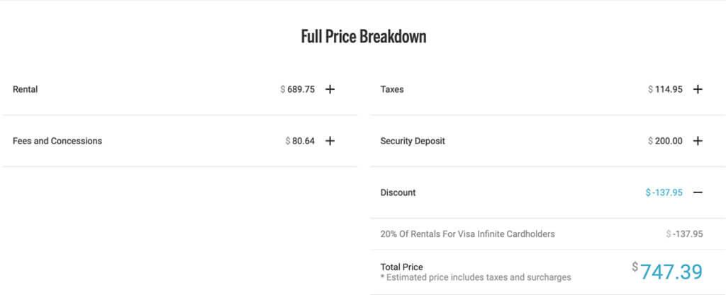 Silvercar Reduces Visa Infinite Discount