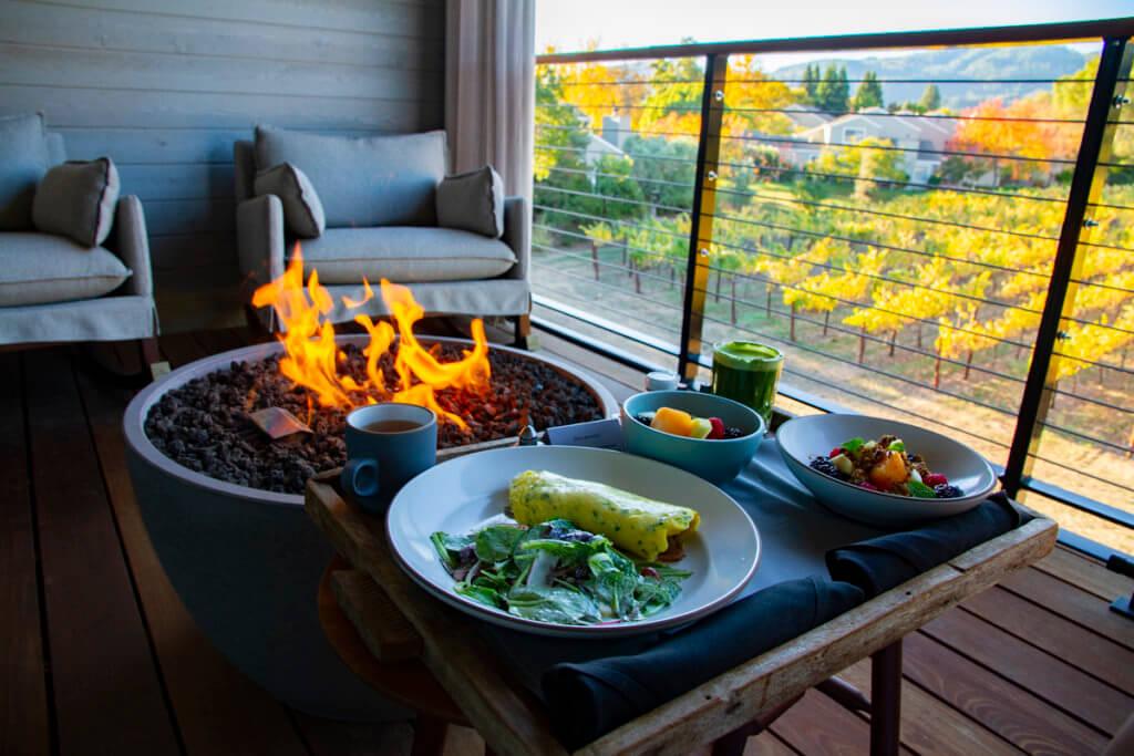 Las Alcobas Napa Valley Room Service