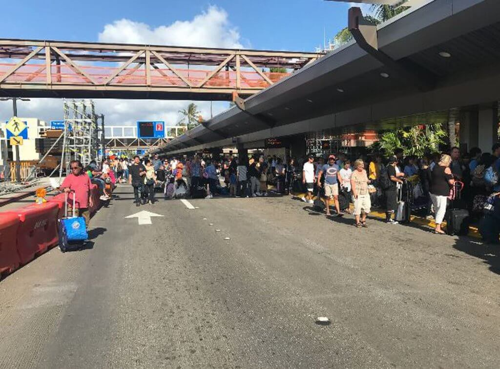 Chaos at the Daniel K. Inouye International Airport