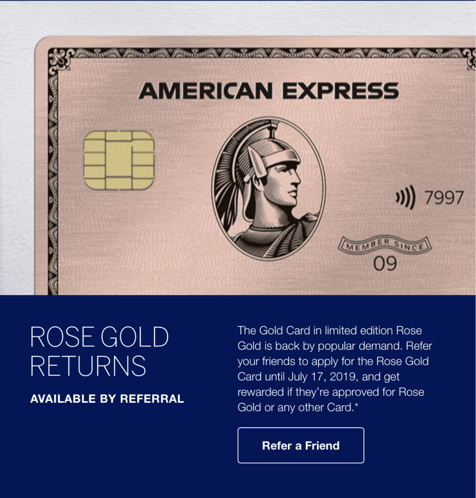 The Amex Rose Gold Card Returns
