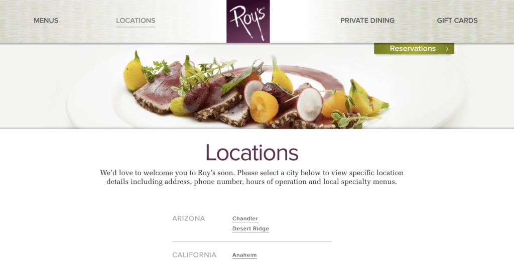 Roy's Restaurant Gift Cards No Longer Work in Hawaii