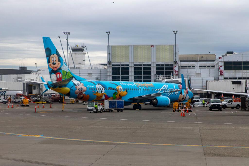 Alaska Airlines 605 LAS - SEA Premium Class