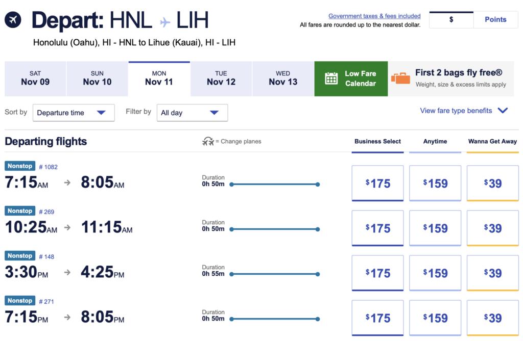 Southwest Accelerates Lihue Plans