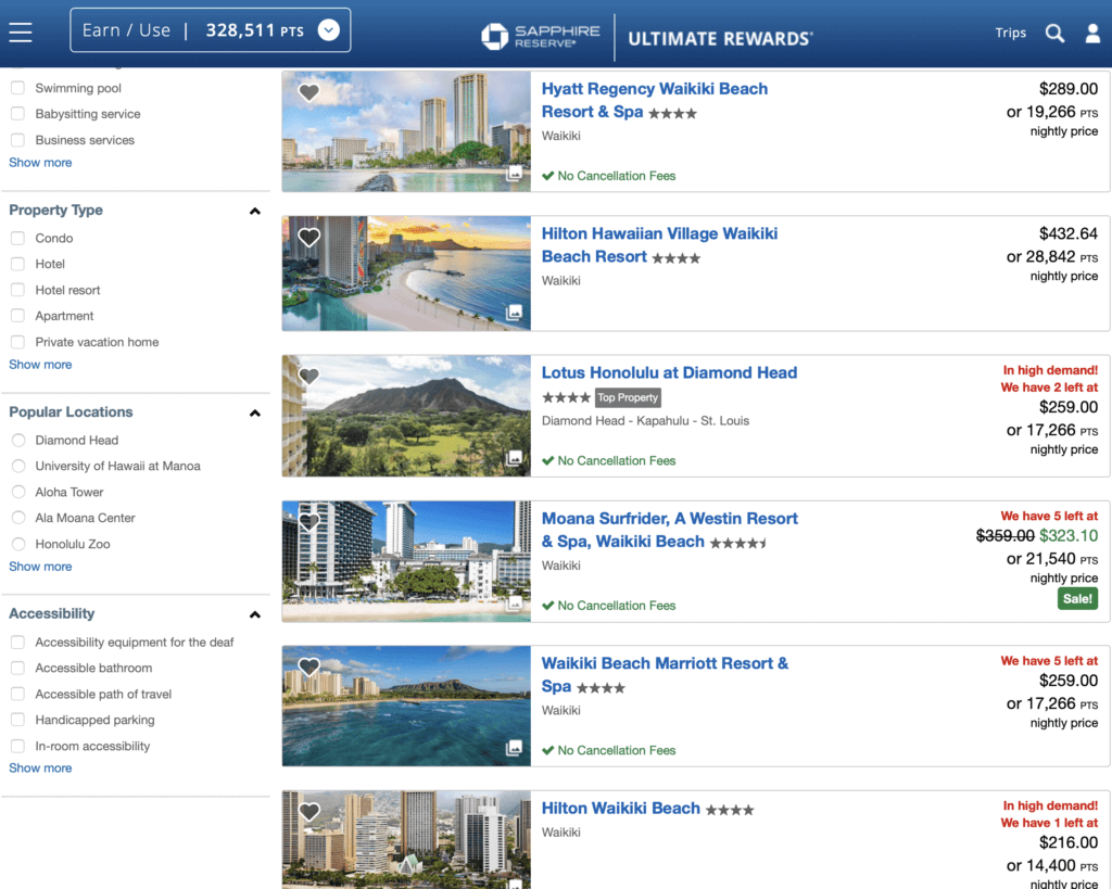 Book Hotels Through Ultimate Rewards Instead of Transferring
