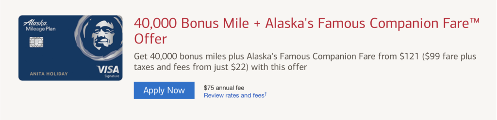 Alaska Airlines Visa Signature Review 2019