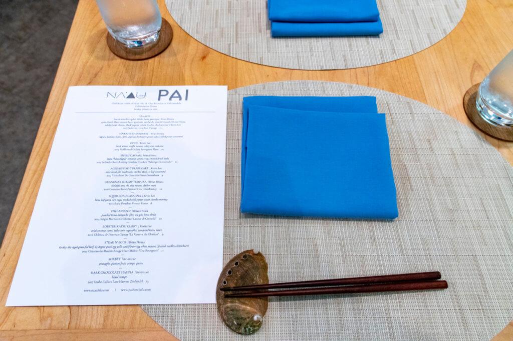 Na'au Hilo + PAI Honolulu Collab Dinner