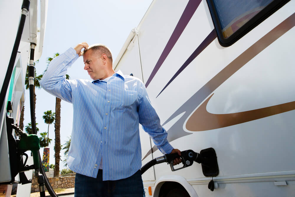 average size of an rv gas tank
