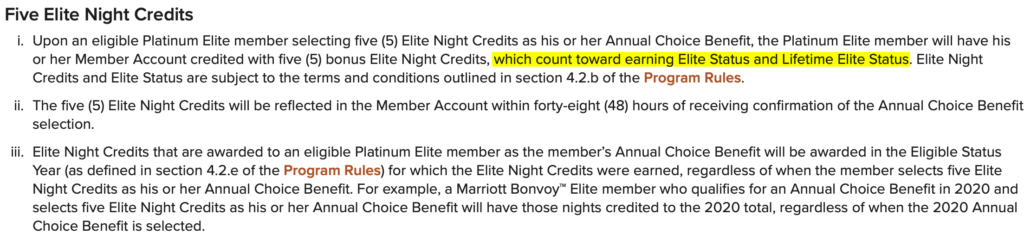 Marriott Choice Benefit Elite Nights Got Better