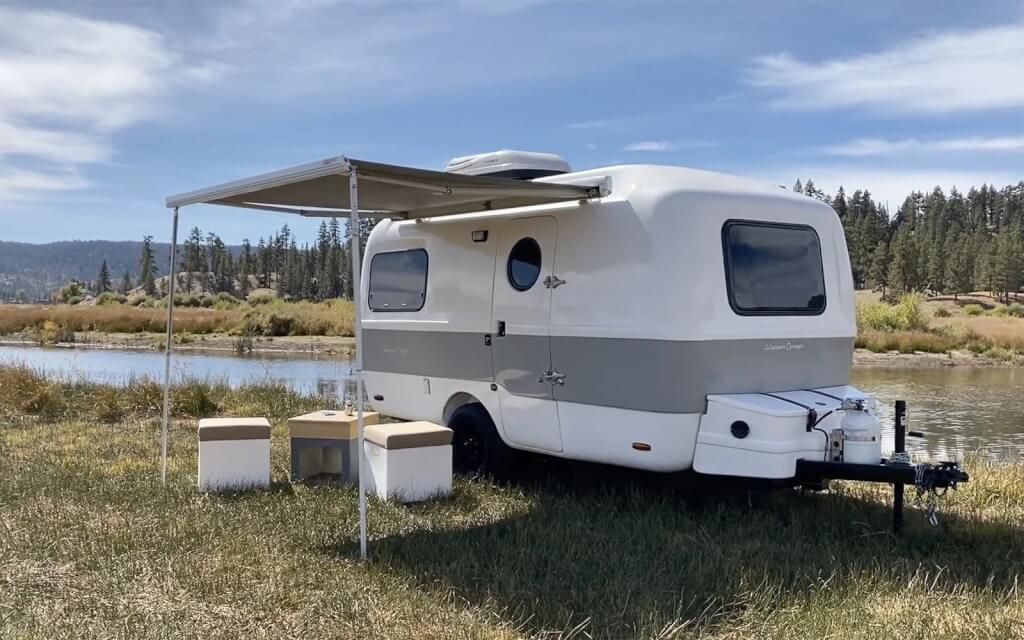 happier camper RV with travel trailer