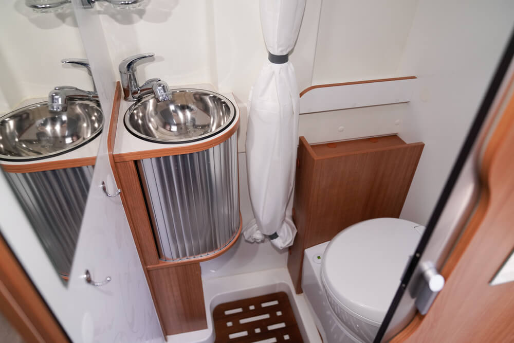 smallest RVs with a bathroom