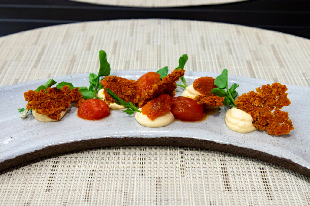 Na'au Hilo x PAI Honolulu Collab Dinner 2021 Tomato Salad