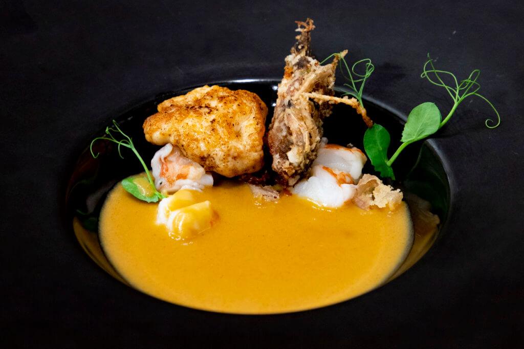 Na'au Hilo x PAI Honolulu Collab Dinner 2021 Smoked O'io & Lobster Bisque