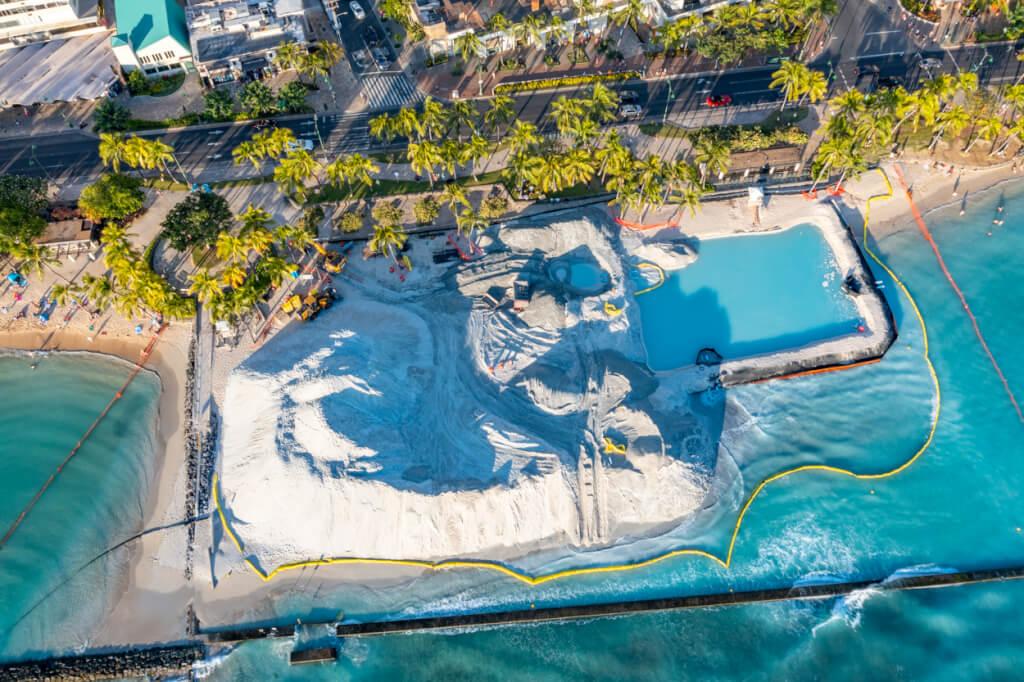 Waikiki Sand Replenishment 2 to Finish Early