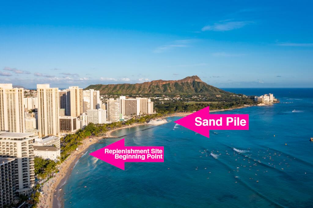 Waikiki Sand Replenishment Work Map