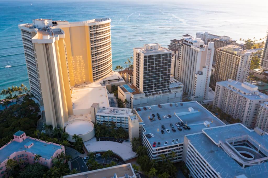 Sheraton Waikiki location