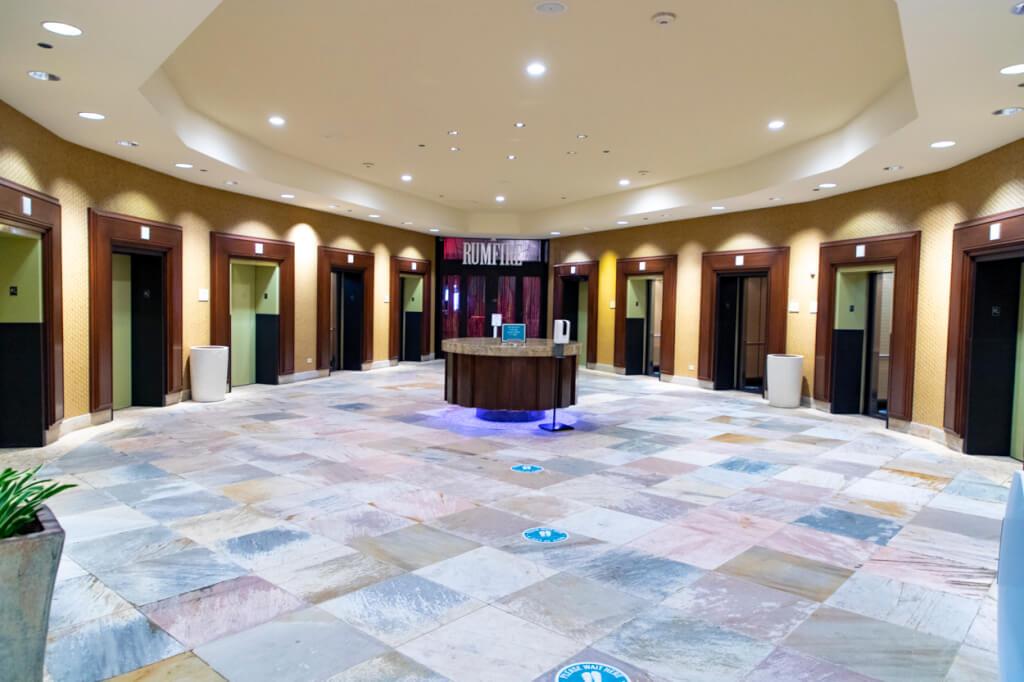 Sheraton Waikiki's massive elevator bank