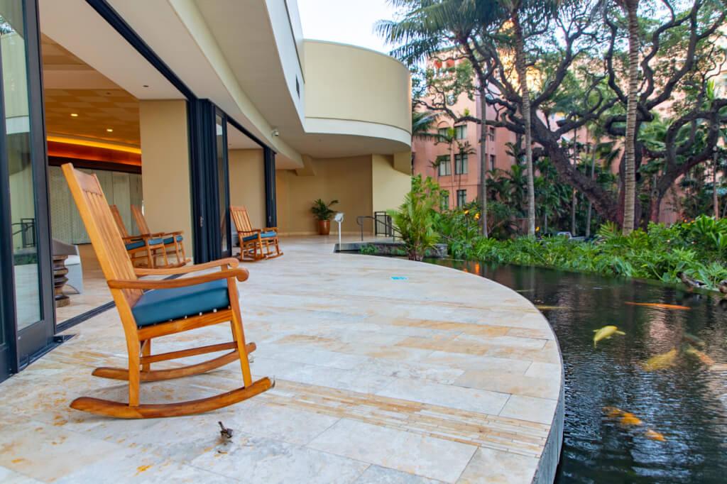 Sheraton Waikiki rocking chairs