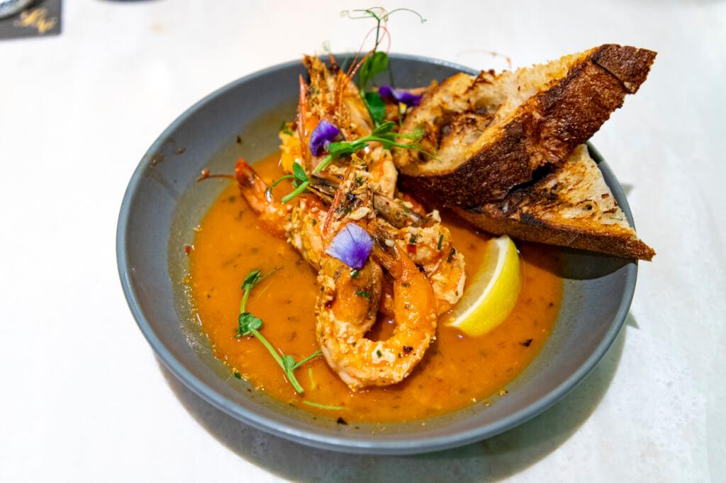 Quiora Waikiki Dinner - Calabrian Garlic Shrimp