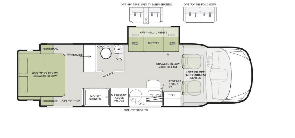 tiffin class c layout