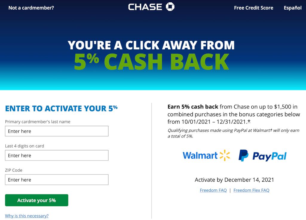 Activate Your Q4 2021 Chase Freedom Bonus